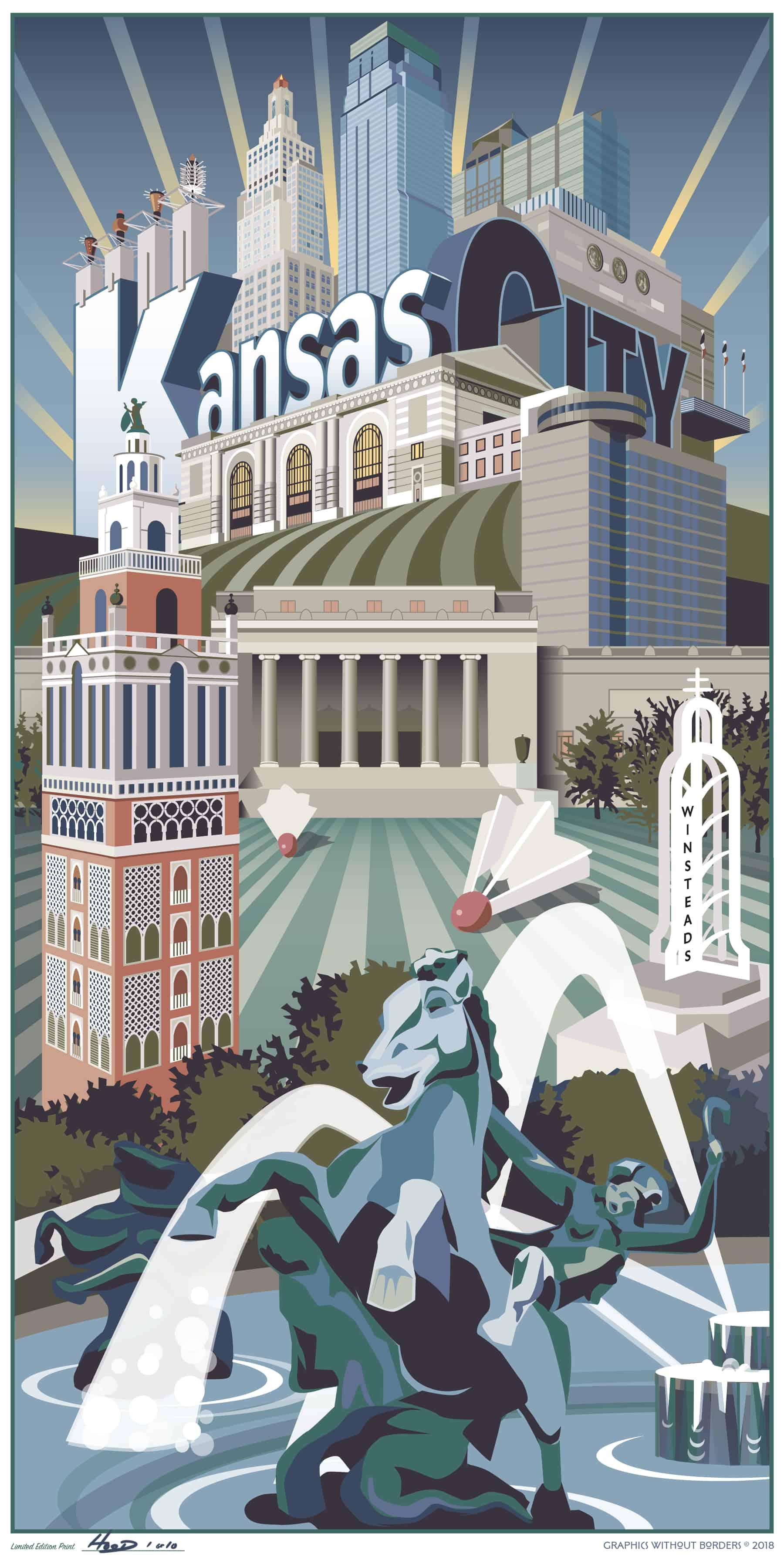 Kansas City Travel Poster