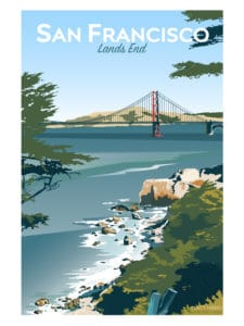 San Francisco's Lands End with a view of the Golden Gate