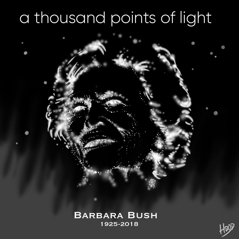 Barbara Bush Obituary Illustration