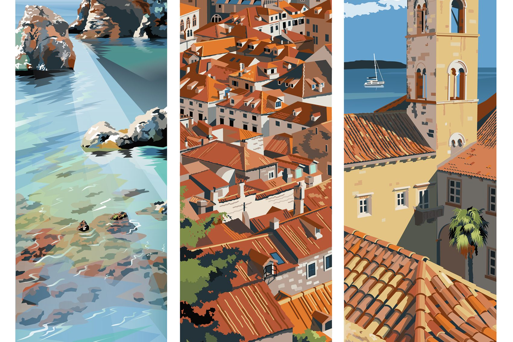 Dubrovnik Travel Poster