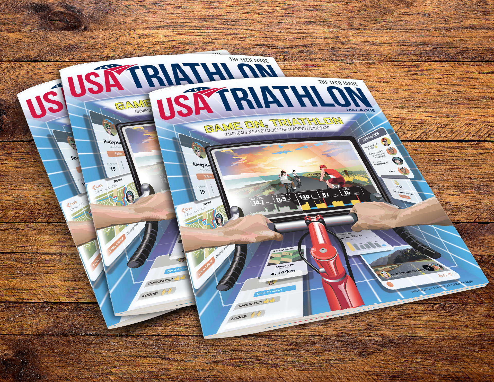 Magazine covers, USA Triathlon